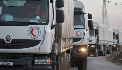 Aid Convoys Stuck in on Turkish-Syrian Border in Aleppo